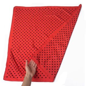 Accessories - Vintage Red Scarf with Dots